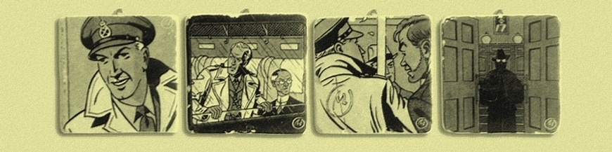 Placas de mármol de cómics de colección