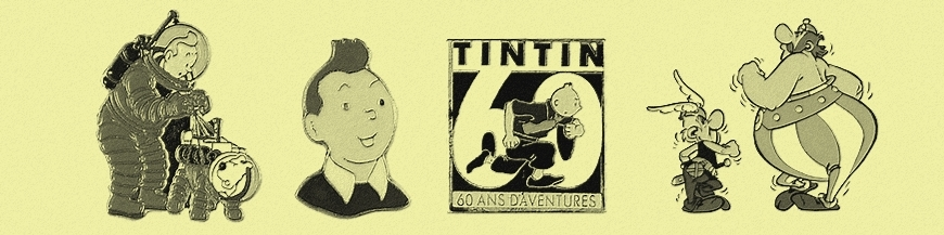 Comics collectible badges and pin's